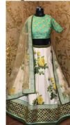 Lime & Yellow Floral Lehenga